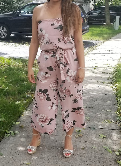 Strapless Floral Romper from Ragorama
