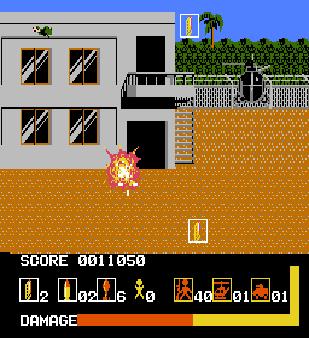 【FC】野狼特攻隊原版+子彈、炸彈無限版,任天堂少見的光線槍遊戲!