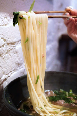Noodle Pull at Raku in New York City