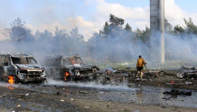 100 Orang Terbunuh Saat Bom Meledakkan Bus dan Penumpang di Suriah