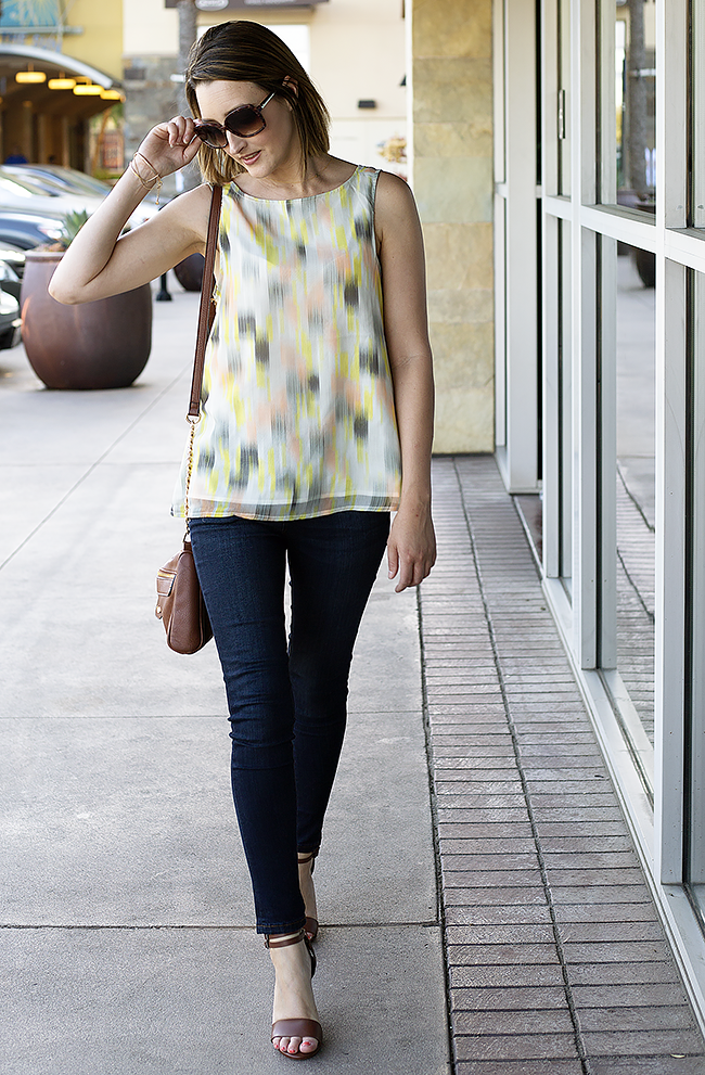 Cupcakes & Cashmere Tank, The Limited Skinny Jeans