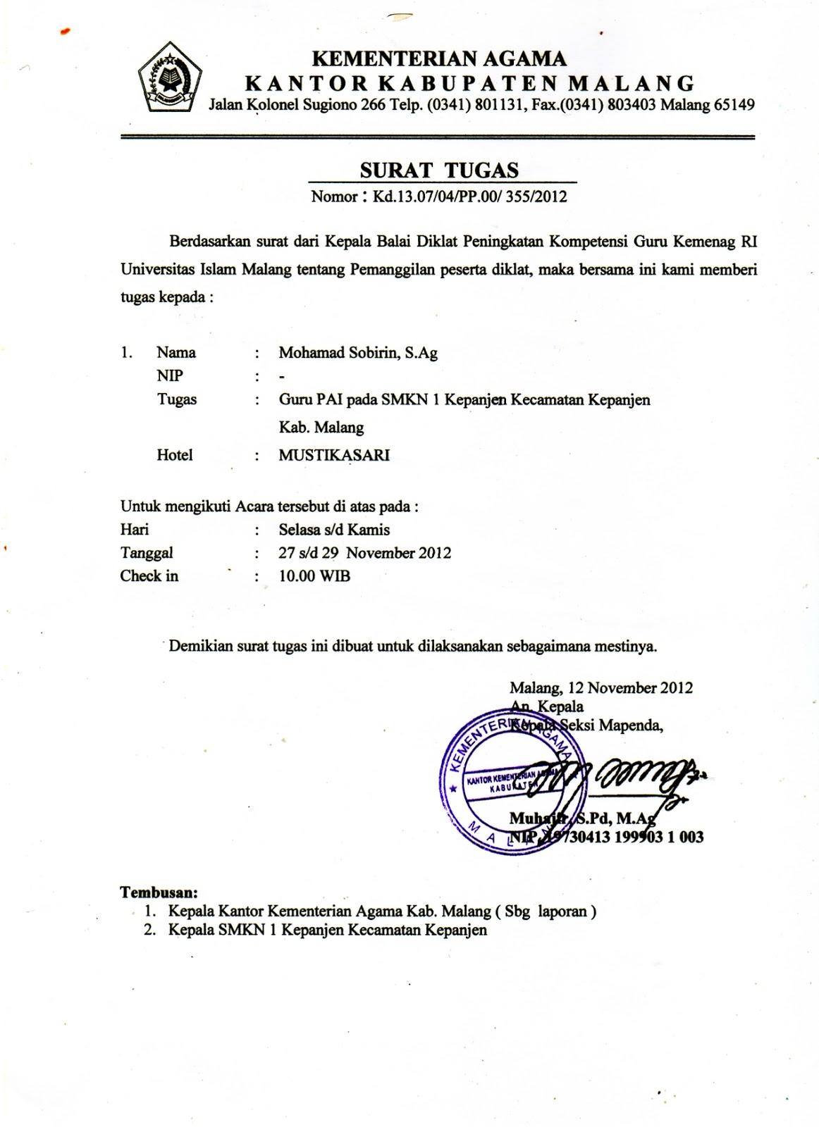 Website Mgmp Pai Smk Kab Malang Surat Tugas