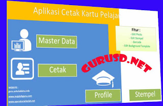 Aplikasi Kartu Pelajar Excel Gratis SD/MI/SMP/MTS/SMA Dan SMK