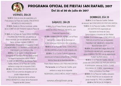 PROGRAMA OFICIAL DE FIESTAS SAN RAFAEL 2017