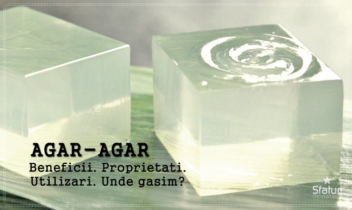 agar agar beneficii proprietati utilizari