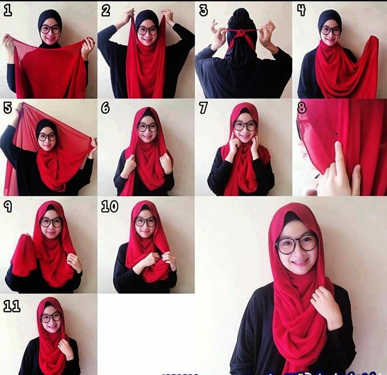 Tutorial Cara Memakai Hijab Pashmina Simple Hijabfest