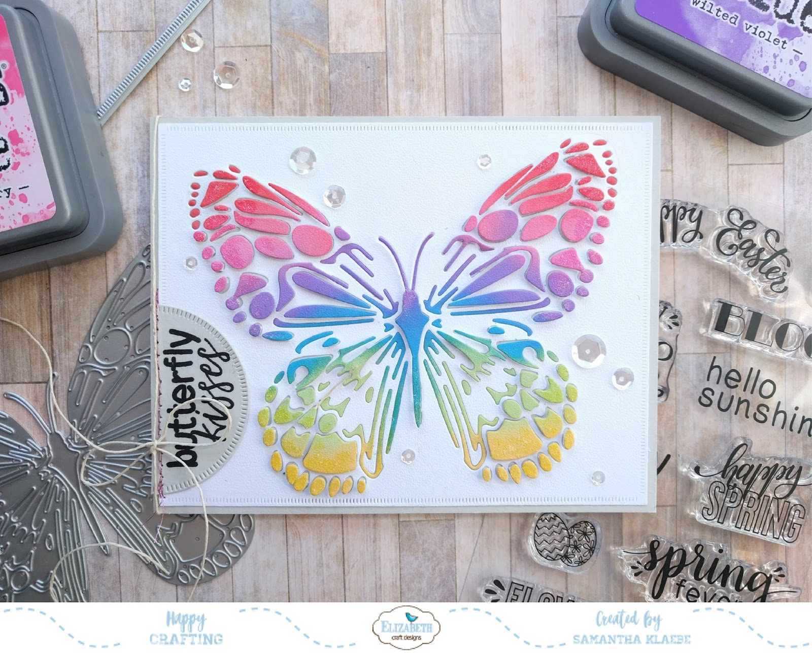 Elizabeth Craft Designs Butterfly Kisses