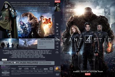 Filme Quarteto Fantástico 2015 DVD Capa