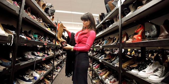 Comprar sapatos nas lojas de departamento em Miami