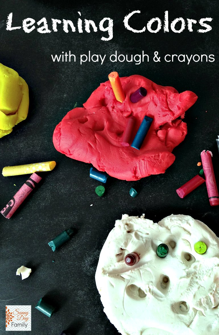 Learning colors with play dough and crayons! Fun color matching game for toddlers & preschoolers