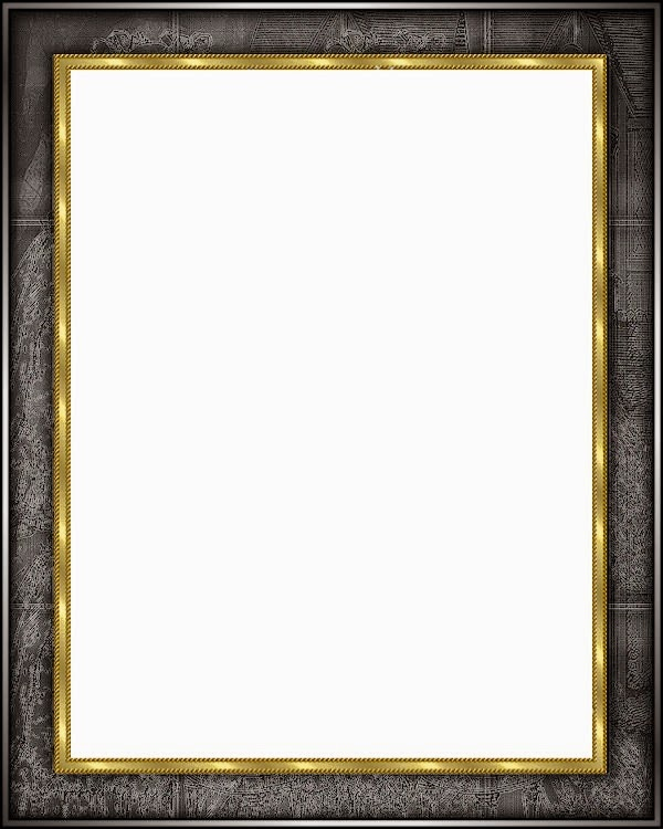 Marcos de color negro con fondo transparente arte digital - Marcos de fotos dorados ...