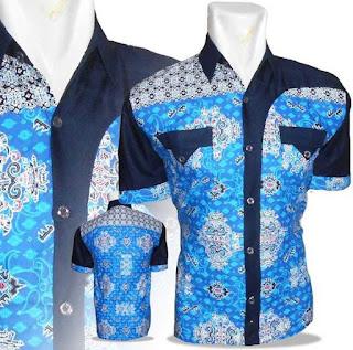 Model Kemaja Batik Untuk Pria Kombinasi 2 Motif