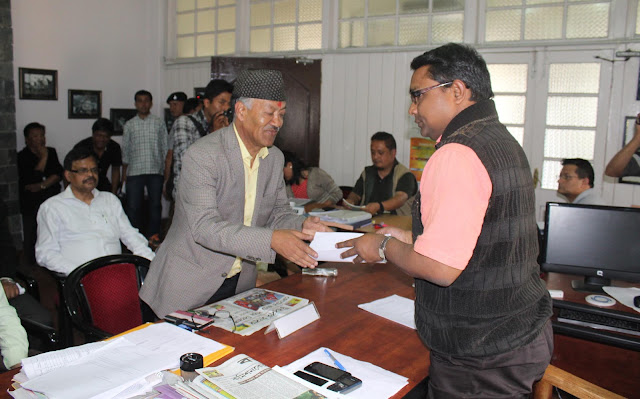JAP Dr Harka Bahadur Chetri filed his nomination for Assembly Election 2016
