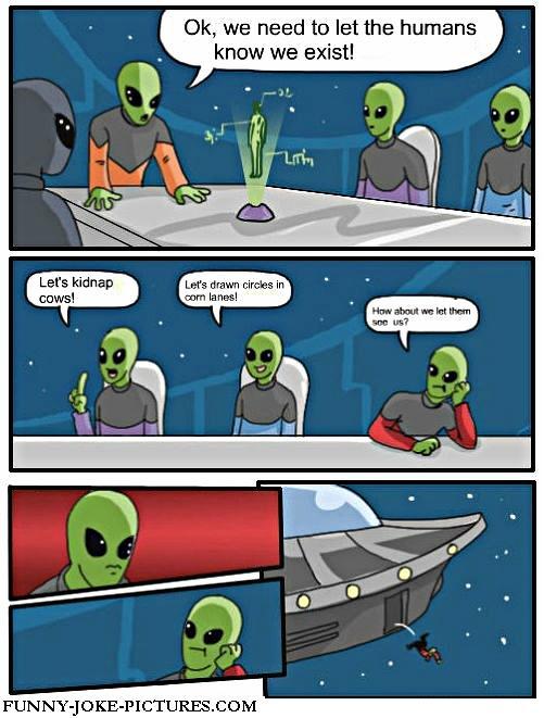 Funny Alien Cartoon Joke
