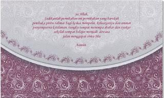 Contoh Undangan Pernikahan Warna Ungu Mazaya MZ - 010