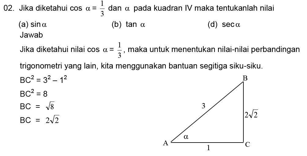 Rumus Perbandingan Trigonometri Di Semua Kuadran