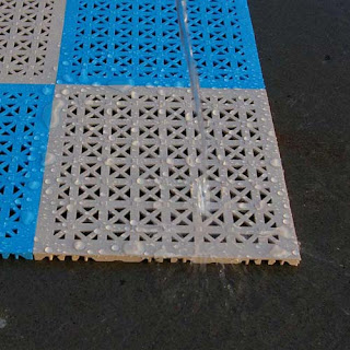 Greatmats hot tub surround tile perforated water proof
