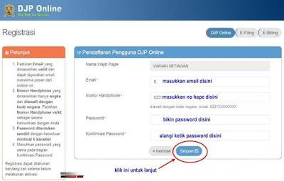 Cara Registasi DJP Online