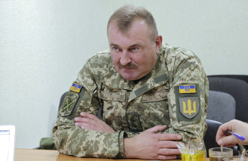Lieutenant General Volodymyr Kravchenko, Ukraine's Joint Forces commanding general in Donbas