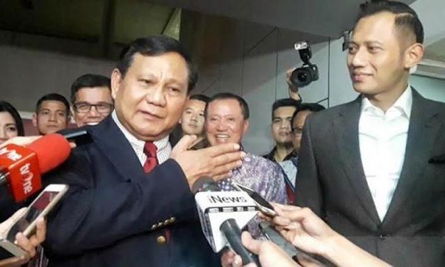 AHY Sambangi Prabowo, Bahas Strategi Kampanye