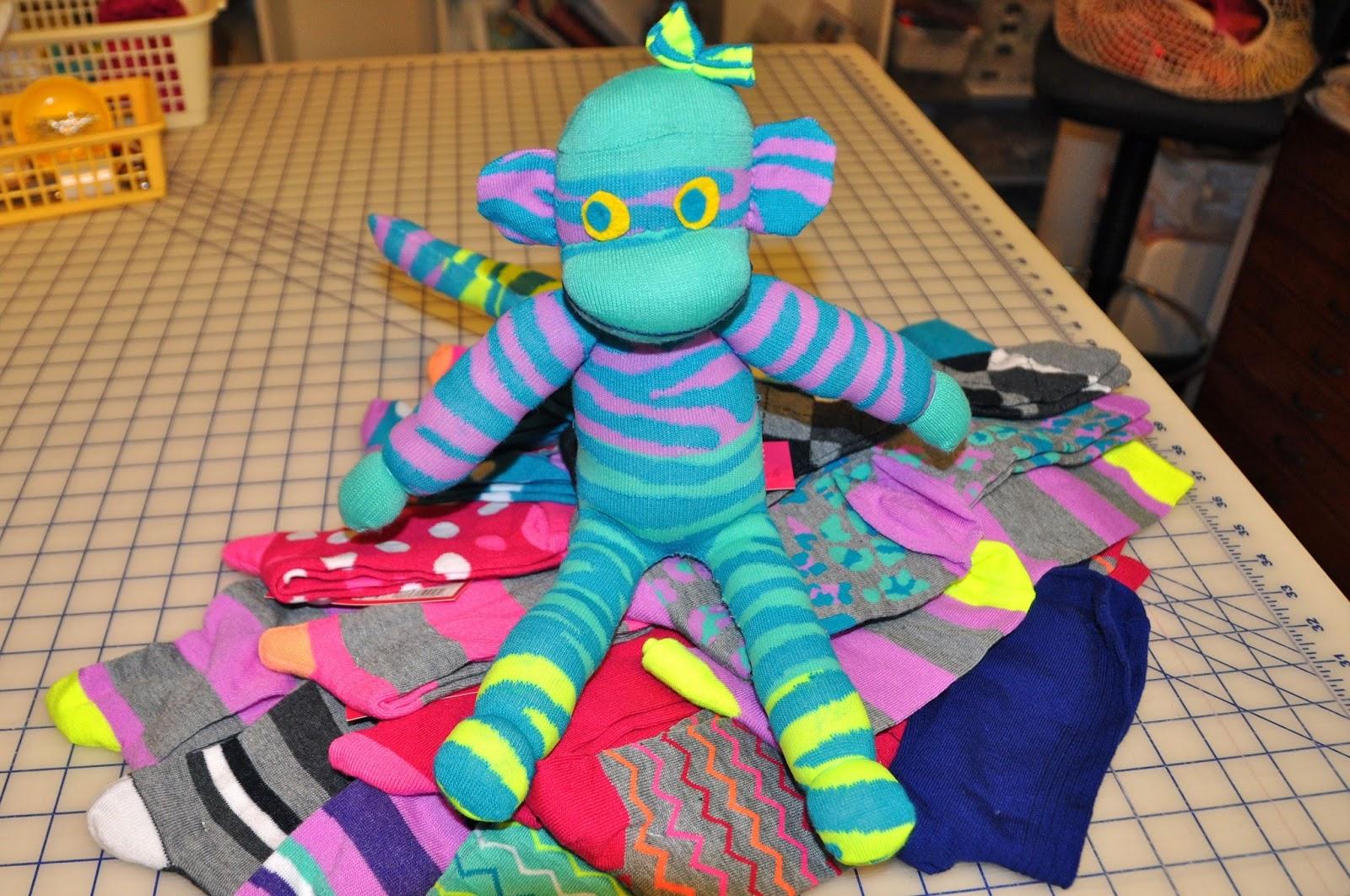 Luann Kessi Sock Monkey Play Day