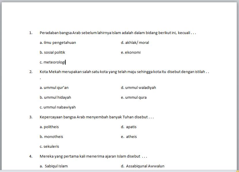 Download Kumpulan Soal Uas Semester 1 Kelas 12 Xii Sma