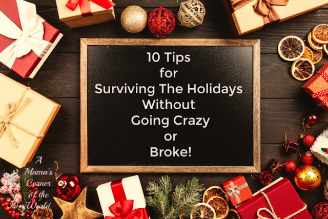 Pinnable image for tips to survive the holidays without going broke or crazy!