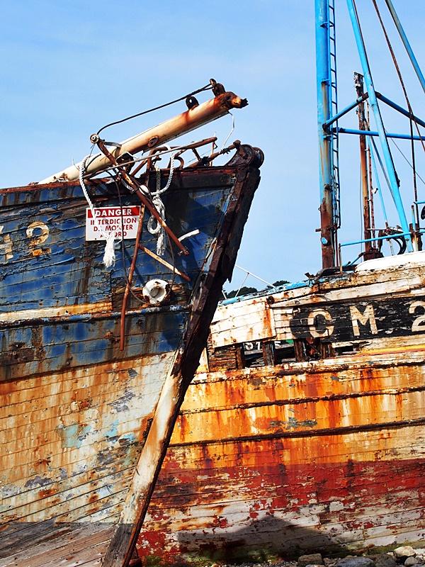 Camaret-sur-mer : le cimetière de bateaux