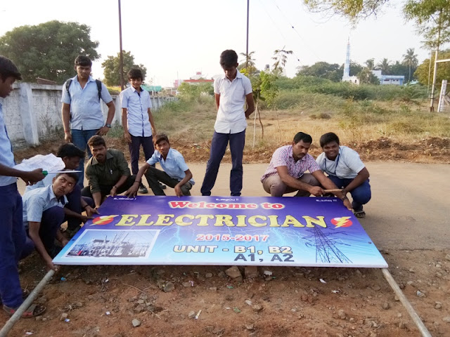 GOVT I.T.I., TRICHY ELECTRICIAN BANNER WORK