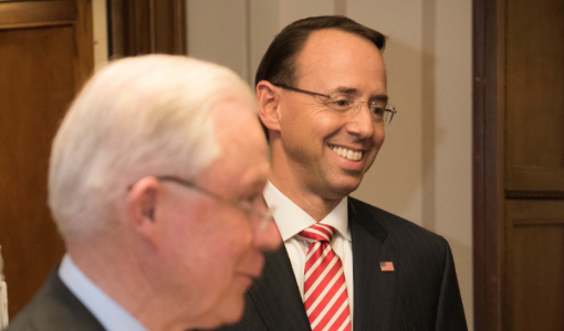 Rosenstein Taunts GOP For Lacking 'Courage' to Put Names on Impeachment Papers