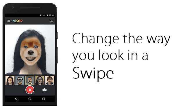 change the way you look like by msqrd app
