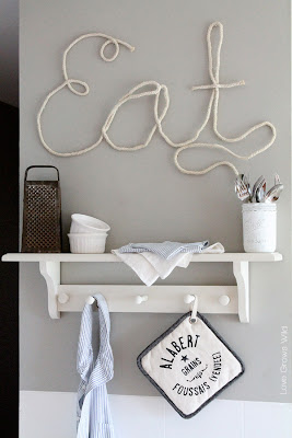 DIY Rope Letters