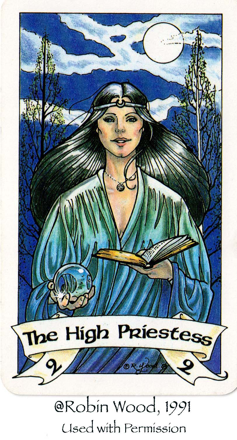 High Priestess Full Colorful Deck Major Stock Illustration: Translucent Journey: Tarot Labyrinth-The High Priestess
