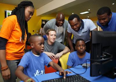 FACEBOOK FOUNDER MARK ZUCKERBERG IN NIGERIA