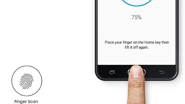 The Samsung Galaxy J7 with finger print sensor