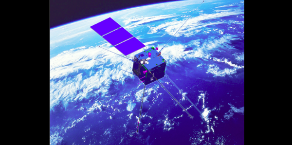 Artist's rendering of the Zhangheng-1 satellite. Image Credit: cses.roma2.infn.it