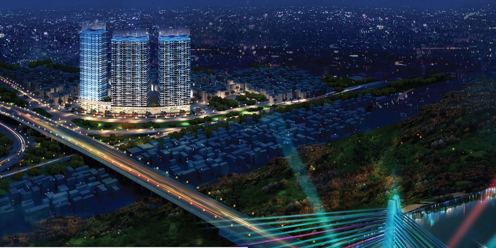 Dự án Intracom Riverside gồm 3 tòa tháp A - B - C View sông Hồng cực đẹp