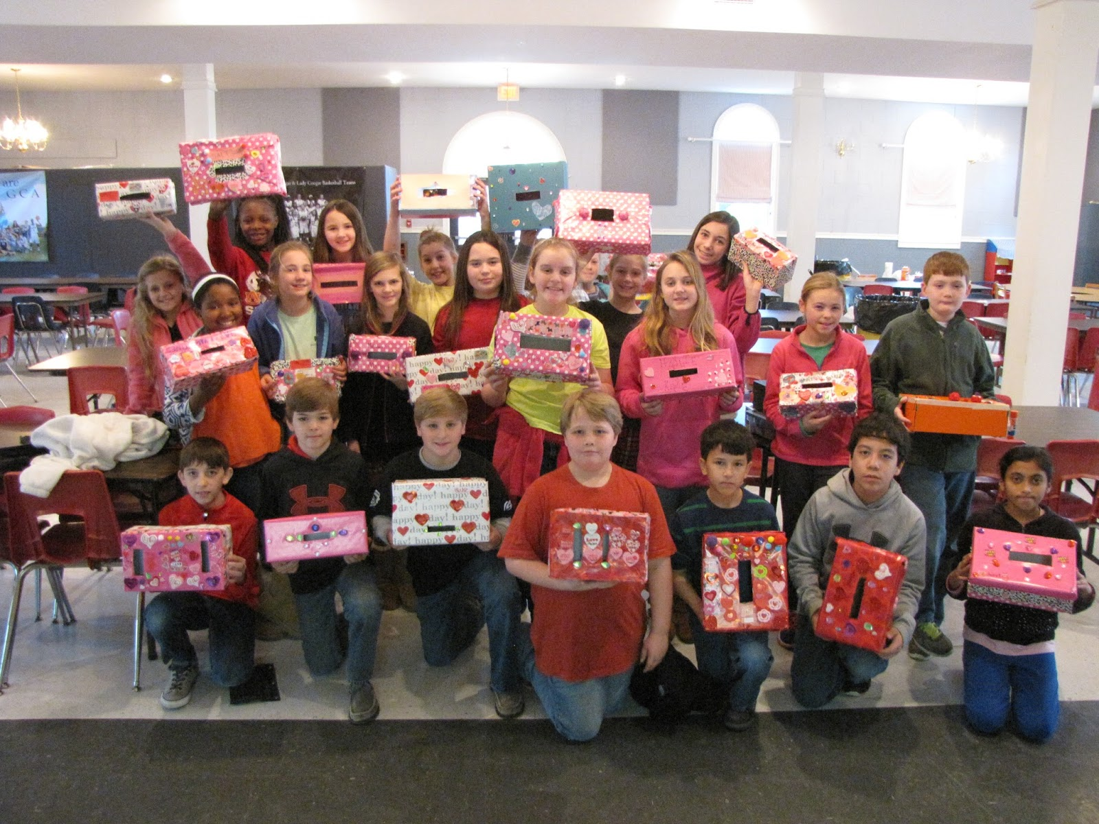 Grace Christian Academy 5th Grade Makes Valentine Boxes