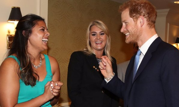 Prince Harry met Canadian youth winners of the Duke of Edinburgh's Award