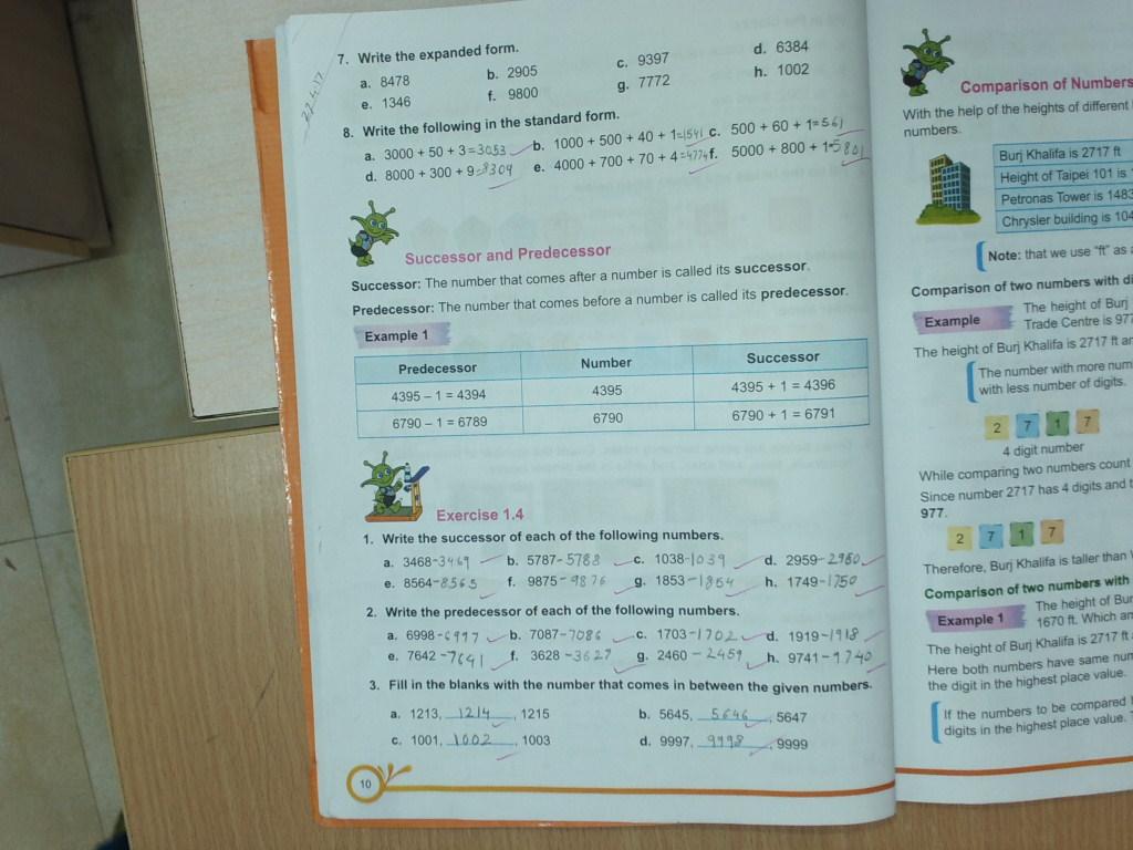 PIS VADODARA STD 3: Grade 3 Maths Ch--Numbers