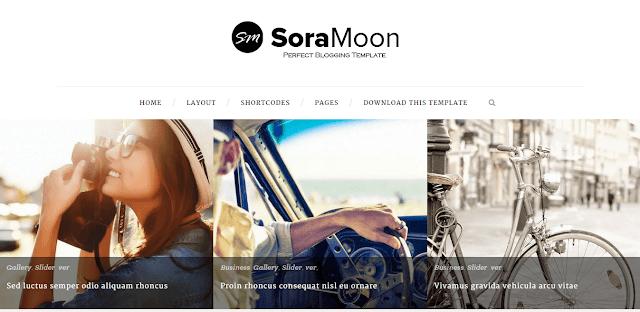 Sora Moon Blogger Template