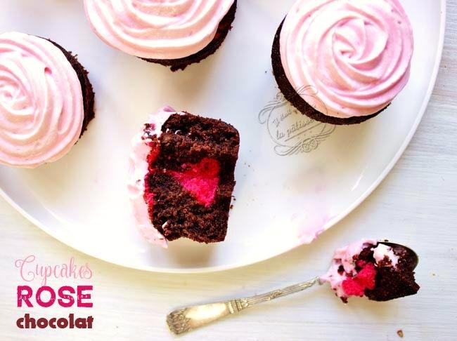 cupcakes rose chocolat recette