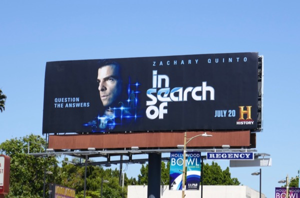 Zachary Quinto In Search Of billboard