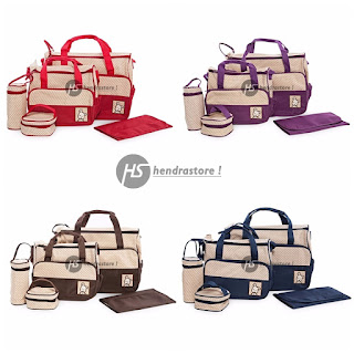 Tas Travelling Bayi - Diaper Bag 5 In 1 Serbaguna