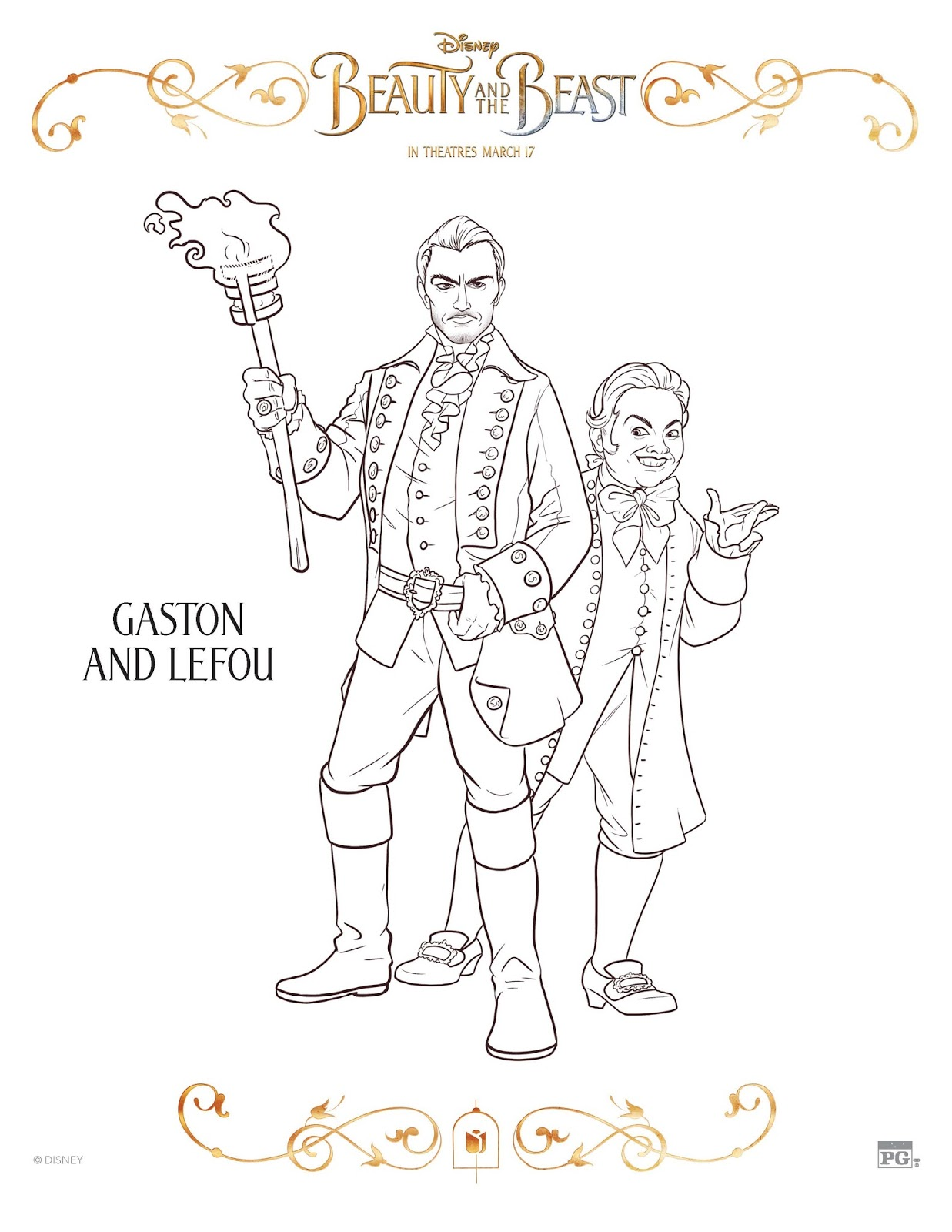 Sasaki Time Beauty And The Beast 2017 Coloring Sheets - beauty and the beast coloring pages live action