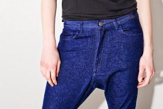 Oak's Medium Indigo Drop Skinny Jeans