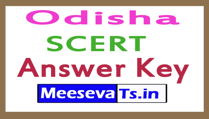 Odisha SCERT Answer Key 2017