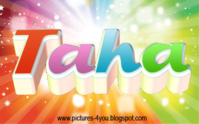 Taha 3D name - Pictures 4 You