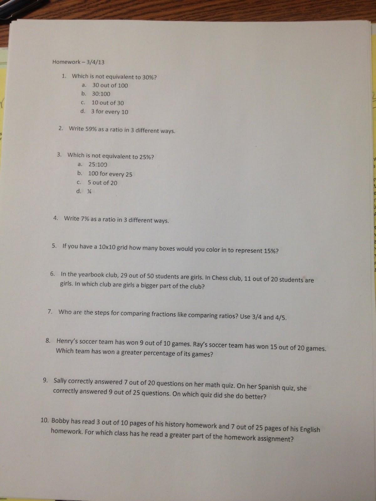 Mrs White S 6th Grade Math Blog March
