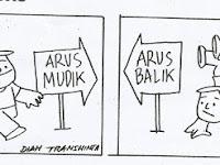 Komik Strip Arus Mudik vs Arus Balik karya Boedy HP